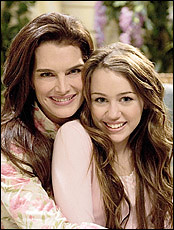 Miley Cyrus and Brooke Shields by demilovato_mileycyrus2023.