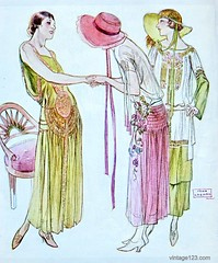 November 1923 Lanvin Fashion (christine592) Tags: 1920s fashion illustration vintage 1923 lanvin