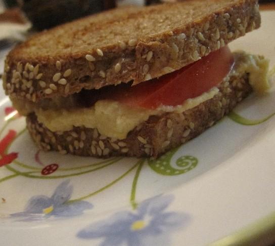 Grilled Hummus Sandwich
