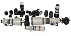 Canon kit (Craig Jewell Photography) Tags: camera glass canon photography eos iso200 equipment cameras l kit f95 30d 160sec 43mm flashfired 40d tamronspaf2875mmf28xrdi 5dmkii 20100427163315igp7694edit