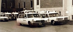 Ambulances involved with moving patients from the old St. Elizabeth's Hospital to the new location, Lincoln, Nebraska, May 2, 1970 (Dr. Mo) Tags: pcs cadillac ambulance medicine pontiac bls ems emt lincolnnebraska firstaid stelizabeth hightop emergencymedicine staroflife ambulancedriver procars deathcare funeralcustoms professionalcars professionalcarsociety professionalvehicles easternambulanceservice roperandsons scenesafety
