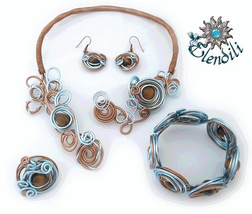 Conjunto aluminio y ojo de tigre by **Elendili**