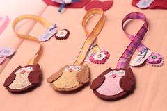 Bazar Colabora por Ideias Vestiveis (Ownn...) Tags: lindo coraes livro feltro bazar fofuras tecidos marcador manuais colabora corujinhas ownn ideiasvestiveis