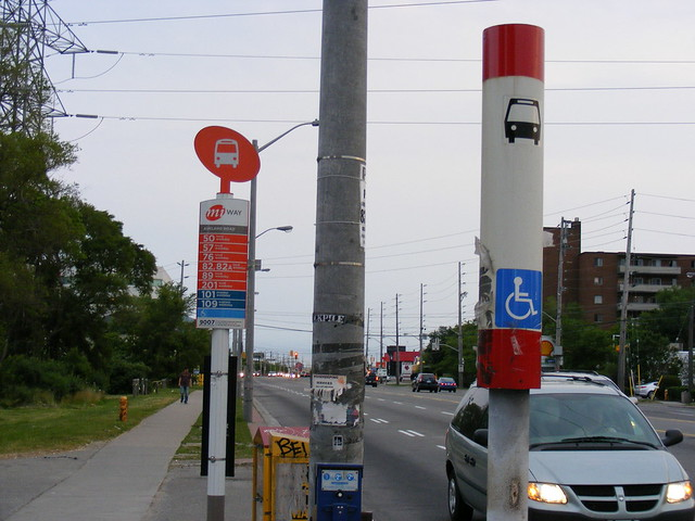 Mississauga and TTC bus stops