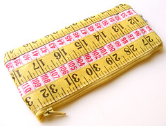 Yellow and Pink Measuring Tape Case