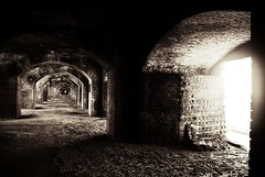 Fort Jefferson, Dry Tortugas (amonick) Tags: bw abandoned fort bricks decayed fortjefferson drytortugas