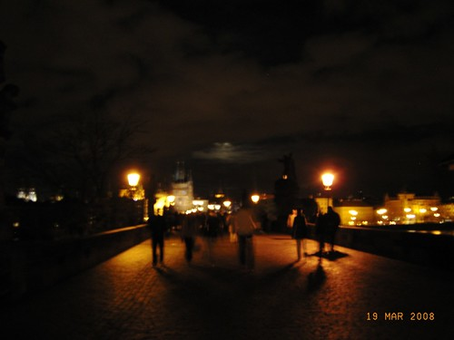 Praga by night - Sul Ponte Carlo - On Charles Bridge