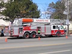 "Toronto Fire Platform 415 ""Diana"" (JL1967) Tags: ontario canada platform aerial dixon diana etobicoke ladder 2008 firedept princessdi canons50 tfs eone torontofire pl415"
