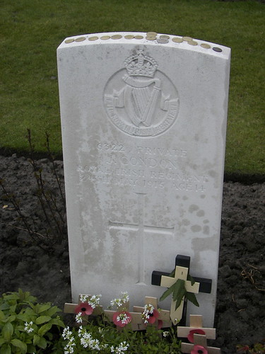 Pte Condon killed in action, 14 years old. Tyne Cot Cemetery