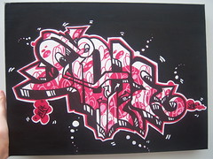 Style (laura hawley) Tags: street pink urban white black hot laura art contrast wow project graffiti sketch cool paint acrylic bright drawing style sharp canvas draw birght laurr