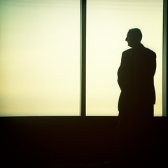 i was a prisoner in your skull (memetic) Tags: windows man tower 120 6x6 silhouette mediumformat observation xpro crossprocessed kodak tl profile panes deck figure backlit rialto ept p6 80mm pentaconsix 160t