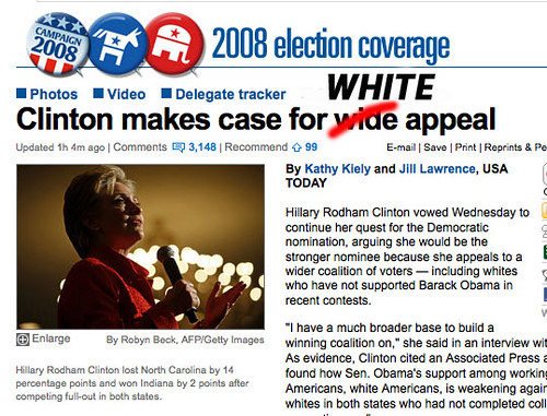 Clinton Makes Case For WHITE Appeal