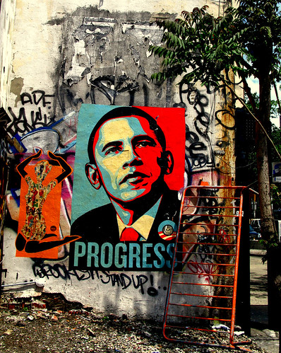 Barack Obama Poster, New York by racoles.