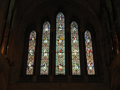 Stained glass adorning Christ Church Cathedral.