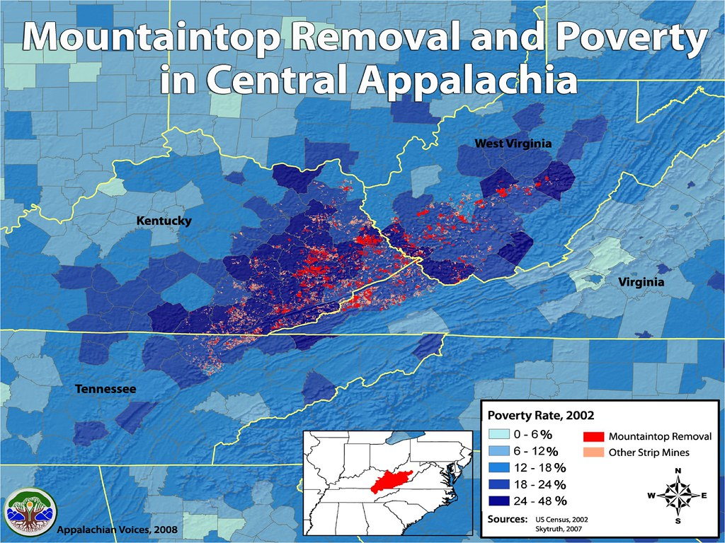 Appalachian Mountains On Map Impacts Of Coal 101 Mountaintop Removal U003d Job Removal