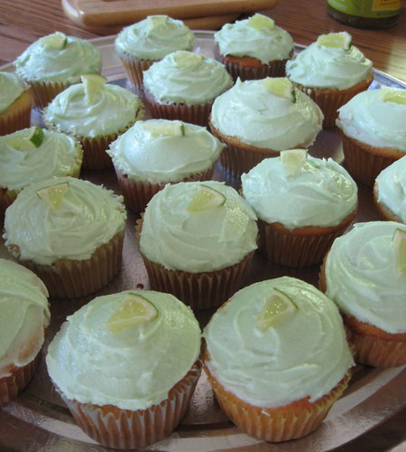 Vanilla Cupcakes with Lime Curd and Cream Cheese Frosting
