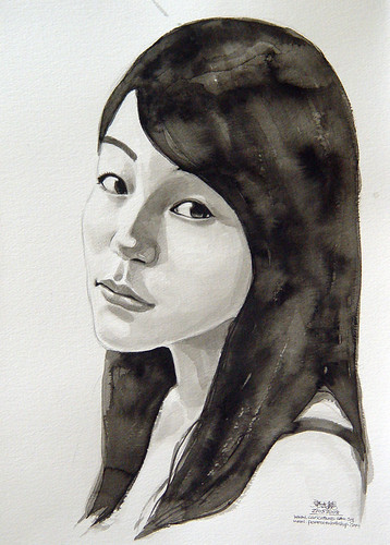 Watercolour portrait lady 2 final