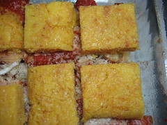 Baked Cheese Polenta with Tomato Sauce - Preparation