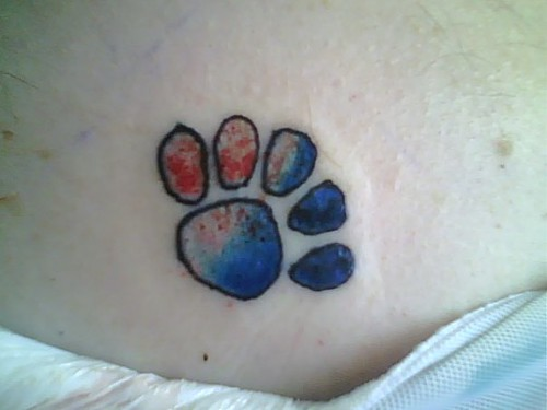 Tags:Animal Print, Black, Black Ink,Black Tattoos, Dog, Paw Print, Print,