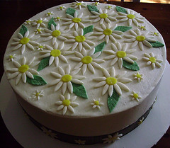 Daisy Bridal Shower Cake