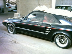 MERCEDES-BENZ coupe (q8500e) Tags: old hot green car mercedes benz top garage tag mercedesbenz arrow kuwait 1985 lamborghini coupe styling c1 w123 sgs q8500e