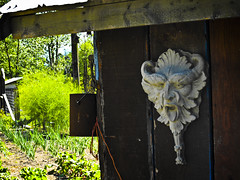 Say ahhh! (new_sox) Tags: antique farm country shed gargoyle