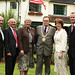 Sam Fitzsimmons, Sir Nigel Hamilton, Geraldine Tigchelaar, Tom Hartley, Susan Elliott and Paul Caskey attend the US Consul's 4th July BBQ