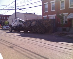 Oops! (tmoertel) Tags: dumpster truck pittsburgh accident pennsylvania oops southside