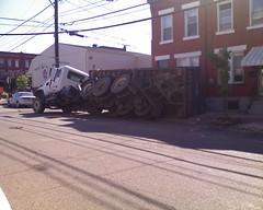 Oops! (tmoertel) Tags: dumpster truck pittsburgh accident pennsylvania oops southside