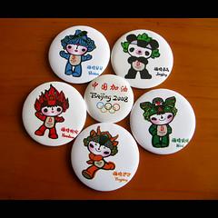 Fuwa Badges (Life in AsiaNZ) Tags: china poster official beijing nini games olympic symbols 2008 hairstyle promotional mascots jingjing nanning guangxi beibei yingying huanhuan funiulele flickrgiants