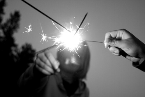 Copy of Sparklers black and white