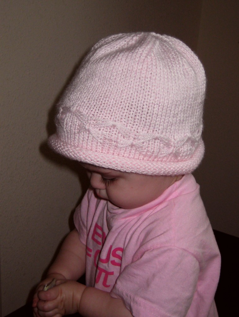 Knitting Pattern For Lace Baby Hat : Frogged Knits: Butterfly Baby Hat