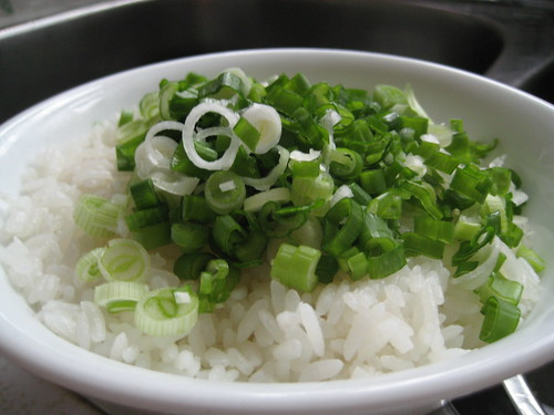 Rice with Green Onion (Raw Egg underneath)