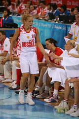 Latvia vs Russia Women's Olympic Basketball - Beijing 2008