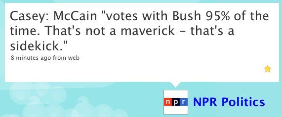 "Twitter / NPR Politics: Casey: McCain ""votes with B..."