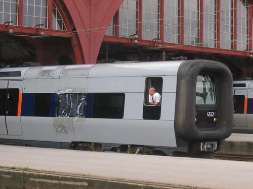 EMU trains at Malmo C station