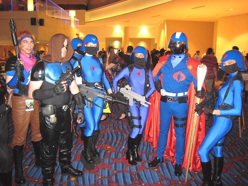 Cobra Commander and his Cobra Hos