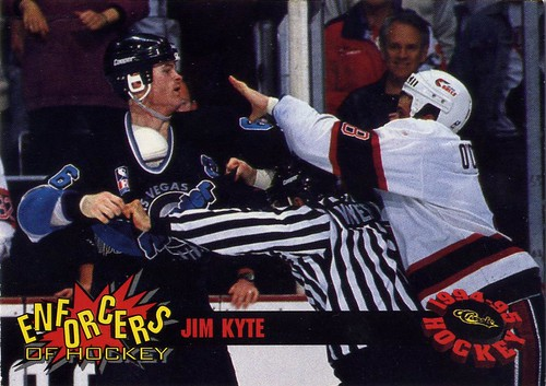 Jim Kyte, Las Vegas Thunder, 94-95 Classic Enforcers, IHL, goon, hockey, hockey card, hockey fight, meathead