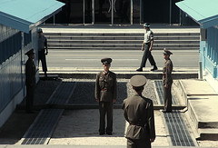 One Korea, Two worlds. (ShanLuPhoto) Tags: idea day propaganda flag north games korea communism kimjongil national leader mass dear dmz socialism pyongyang dprk  juche kimilsung