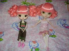 Yuki♥ and Saki♥..... (Pink♥World) Tags: pink cute strawberry doll sweet hellokitty dal plush sanrio kawaii pullip fabulous magical mymelody pinkworld