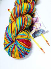 madelinetosh clementine (chotda) Tags: superwash stash knitting knit merino yarn crafty handdyed madelinetosh