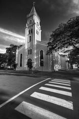 A path to heaven (Victor Bonomi) Tags: bw church heaven crosswalk hdr