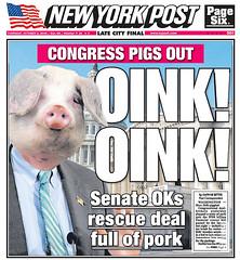 Los cerdos se dan un festín