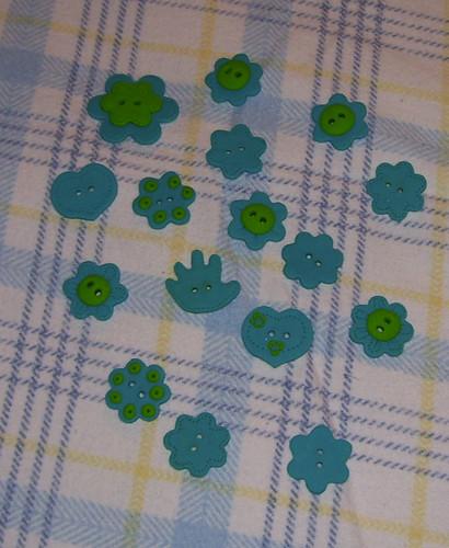 Botões - verde e azul