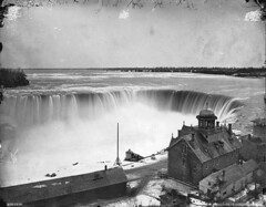 Horseshoe Falls from above, Niagara, ON, 1869 (Muse McCord Museum) Tags: ontario canada niagarafalls niagara falls waterfalls horseshoefalls on 1869 mccordmuseum musemccord commons:event=commonground2009