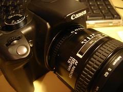 Canon 350d con nikkor 85m 1.8