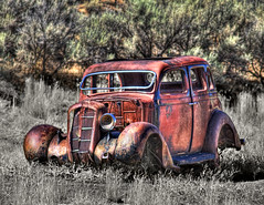 A Fading Memory (Fort Photo) Tags: auto blackandwhite classic car oregon rural nikon rust automobile bravo bc searchthebest northwest antique decay or object nostalgia transportation memory pacificnorthwest vehicle remembrance past pnw photoart hdr reminiscence recollection sentimental selectivecolor d300 photomatix sentimentalism seor nostgalgic 2008reunionnature