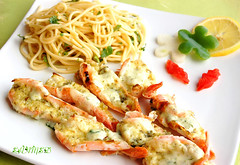 Saucy Grilled Prawns (~Trs Chic Cupcakes by ShamsD~) Tags: lemon nikon prawns spagetti parsley grilled mayonnaise salads shamsd shamimadesai prawnsrecipe prawnsandmayonnaiserecipe