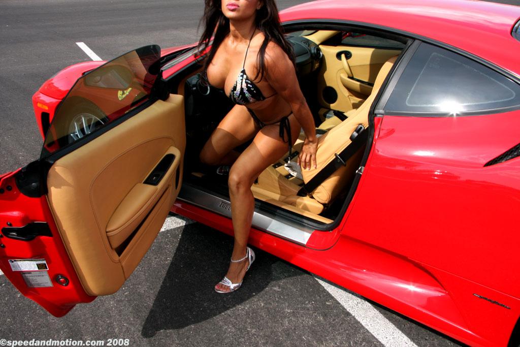 Sexy car driver