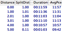 UCF 5 Miler Splits (by Kitzzy)